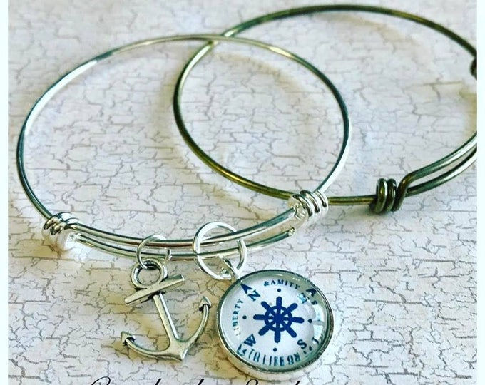 50pk...Silver Finish Brass Adjustable Bangle Bracelet...65mm..High Quality triple loop durable bracelet