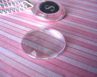 20pk...25mm Circle Glass Tiles Cabochons... Great for Pendant Trays and magnets.glass tiles for pendants