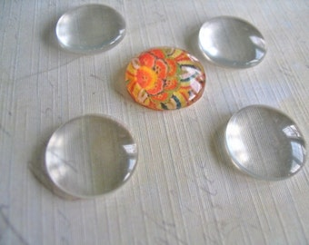 20...14mm Domed Glass Cabochons. Great for  Rings, and pendant settings.