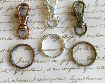20pc...1.5 inch Swivel Clasp and 25mm..Key Ring Kit