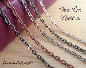 20 Vintage Style Chain Necklaces....Mix and Match...Gun Metal..Antique Brass..Copper..Silver..OLC24