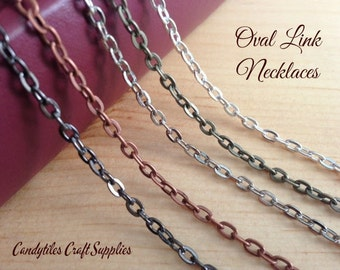 20pk Vintage Style Chain Necklaces....Mix and Match...Gun Metal..Antique Brass..Copper..Silver..OLC24