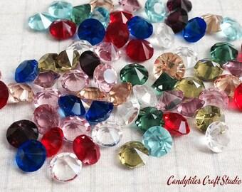 2pc....4.8mm Crystals...Birthstones for Floating Glass Locket, Locket of Memories, Living Locket, Floating Crystals