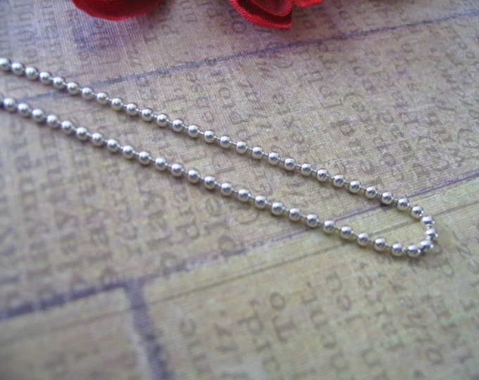10pc...1.5mm Shiny Silver Ball Chains. Great for pendants, Cabochons, Scrabble and Glass Tiles.