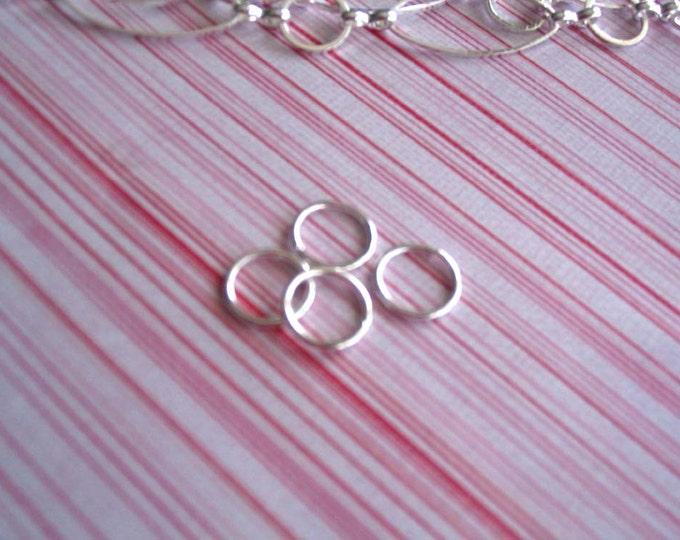 50pcs 10mm Shiny Silver Jump Rings