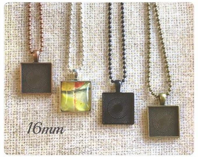 10pk..20mm Square Pendant Trays....Listing is for trays only...bezel, pendant trays, pendant