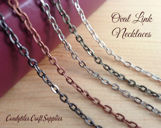 10pc...Vintage Style Chain Necklaces....Mix and Match your colors...OLC24