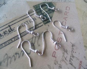 50 Silver Plated Earring Earwire hooks...SPEH