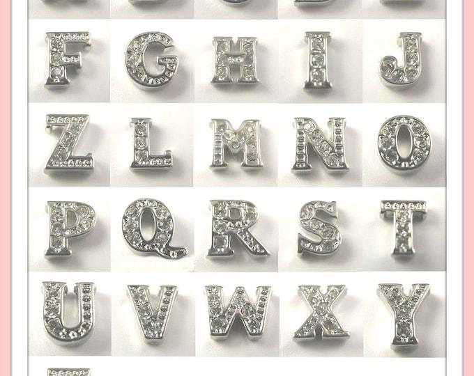 Choose (10)...Rhinestone Crystal Alphabet Charms for Locket of Memories TM, Living Locket, Memory Locket, Floating Glass Locket,