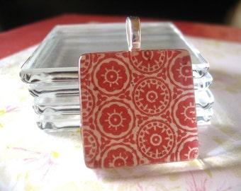 50pk...25mm glass tiles...1 INCH Crystal Clear Glass TilesGlass tiles for pendants