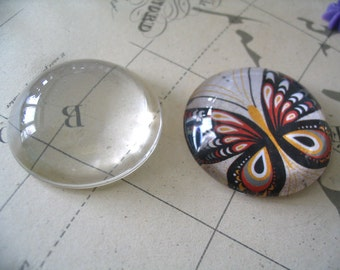 10pk...38mm Glass Tile Cabochons...Crystal Clear...Great for Magnets and Pendant Trays
