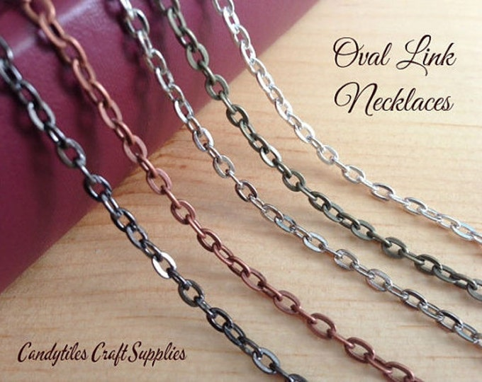 100pk... Vintage Style Chain Necklaces....Mix and Match your colors...OLC24