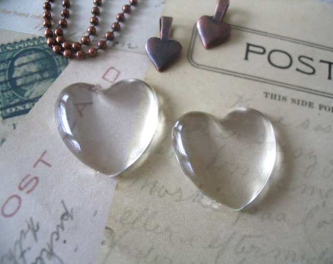 40...Heart Dome Glass tiles. Great for pendants and ornaments.