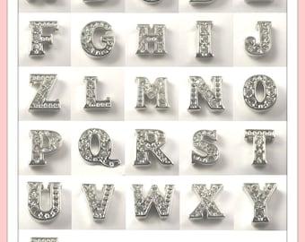 Choose (3)...Rhinestone Crystal Alphabet Charms for Locket of Memories TM, Living Locket, Memory Locket, Floating Glass Locket,