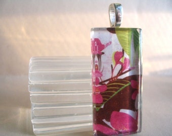 25x50mm...COMBO...10 Crystal Clear Rectangle Glass Tiles...10 Medium Sterling Silver Plated Bails