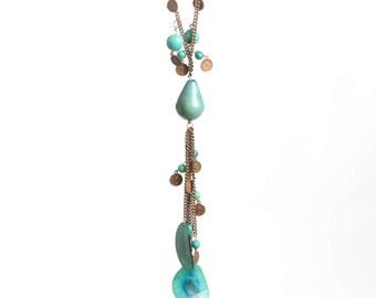 Blue tagua necklace, Tagua nut necklace, Tagua necklace, Tagua jewelry, Tajua nut jewelry, Blue tagua nut necklace, blue tagua bead necklace