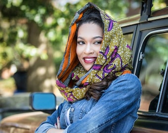 Scarf, Infinity scarf, Reversible inifity scarf, Womens scarf, African print scarf, African scarf, Ankara scarf, Reversible scarf, Fall gift