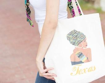 Texas tote bag, Tote bag, Texas, Canvas tote bag, Vacation tote, Canvas bag, Market bag, Beach bag, Market tote, Grocery tote, Grocery bag