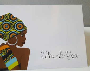Note cards, Blank note cards, Greeting cards, Blank greeting cards, Thank you cards, Thank you note card, African note cards, Thank you gift