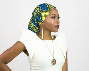 African fabric head wrap, African clothing head wrap, African headwrap, African head wrap, Head scarf, African scarf, African print scarf