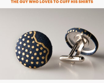 Father's Day gifts, Dad gift, Husband cufflinks, Navy blue cufflinks, Gift for him, Gift for dad, Gift for husband, Cufflinks gifts for him