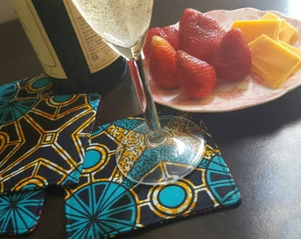 Fabric coasters, hostess gift, coaster set, new home housewarming gift, Coasters, Drink coasters, hostess gift ideas, Housewarming gifts