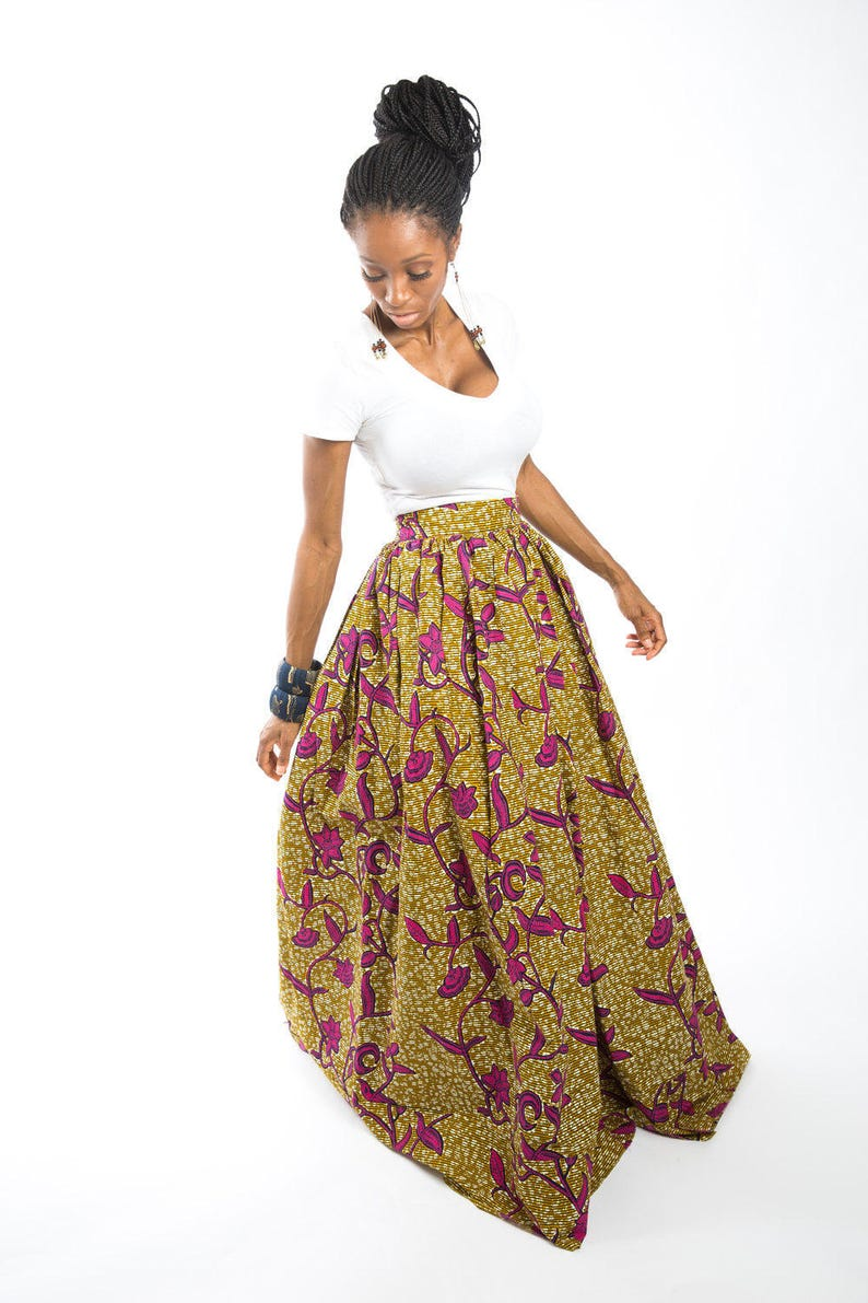 3bcf43ccad African maxi skirt African clothing African skirt African