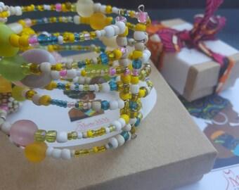 Beaded bracelet, Cuff bracelet, African bead bracelet, African jewelry, Beaded jewelry, African bead cuff bracelet, African bracelet, Gift