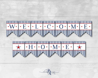 welcome home banner patriotic banner print at home pdf files instant download digital files
