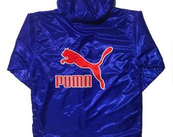 PUMA Blue and Red Embroidered Jacket 3270f746a4e1d