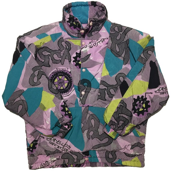 Etirel Pink and Teal Ski Jacket