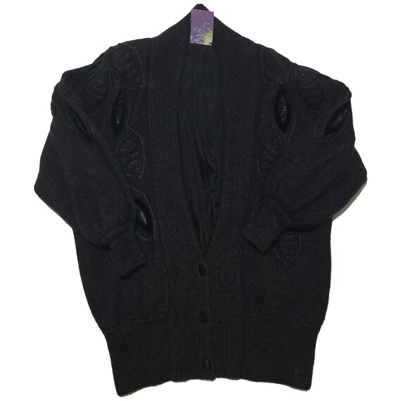 Black Acrylic Wool Sweater