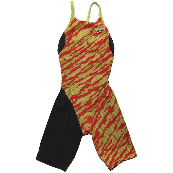 Speedo Striped Swim Suit