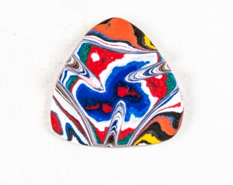 Fordite Cabochon, Fordite Cab, Polished Fordite, Gemstone, Jewelry Making, Wire Wrapping, Jewelry Supply, Corvette Fordite, Chevy Fordite