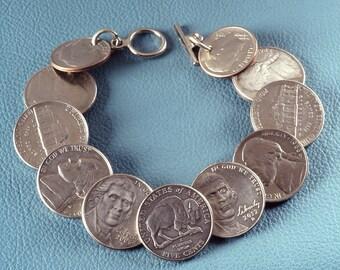 U.S. Nickel & Dime Coin bracelet