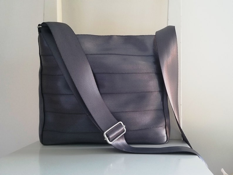 Charcoal Grey Seat Belt Messenger