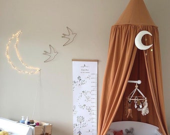 Moon Wall Nursery Decor- Magical theme nursery- moon - space theme nursery- gold moon- baby mobile- moon nursery decor- moon phase