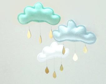 Blue Baby boy mobile-mint nursery-cloud mobile- baby mobile- nursery decor-baby gift- the butter flying-nursery-mobile-ceiling mobile- baby
