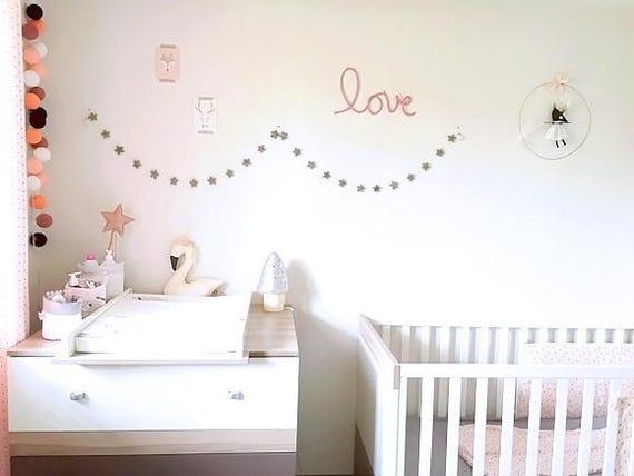 Guirlande étoiles -Chambre bébé-mobile nuage-mobiles nuages-mobile bébé  -mobile étoile- mobile étoiles-mobile lune-décoration enfant