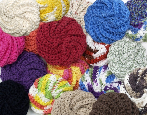 Spiral Kitchen Scrubbies Cotton Scour Pad Spiral Scrubbies