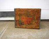 Mid Century Wood Crate Vintage Canada Dry Soda Crate Old Wooden Box Crate Soda Pop Wooden Box Rustic Home Storage Man Cave Decor