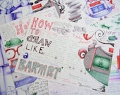 ALMOST GONE Zine 'How To Draw Like A Barmpot' tutorial zine by Andrea Joseph