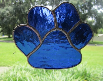 Puppy Paw Glass, puppy, paws, glass, stained glass,  pet, dog, animal