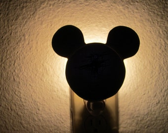 Mouse Ears Nightlight, stained glass night light, mouse ears, lighting, lamp, home decor