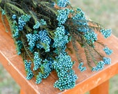 Preserved blue rice flower, blue flowers for bouquets, blue flowers for vase, wedding flowers, filler, blue dried flowers