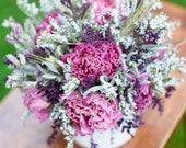 Summer Peonies arrangement, birthday flowers, dried flower arrangement, flowers for mom, small dried flower arrangement, flowers for desktop