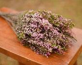 Bunch of preserved pink heather, pink heather, pink wedding flowers, spring wedding flowers, scottish flowers, scottish wedding flowers