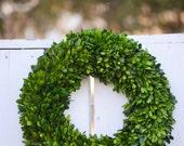 Large Preserved Boxwood Wreath, Spring wreath, winter wreath, boxwood wreath