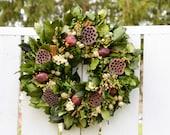 Cinnamon Winter Wreath,  winter wreath, preserved wreath