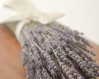 Dried English Lavender Bunch, fragrant lavender, smudge lavender, smudging lavender, smudge herb, lavender bouquet, lavender stems